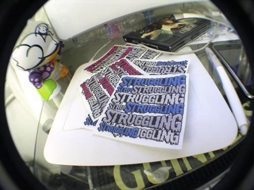 sturgglingdesigner stickers